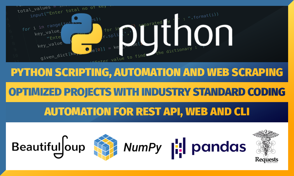 Python Scripting,  Automation and Webscraping