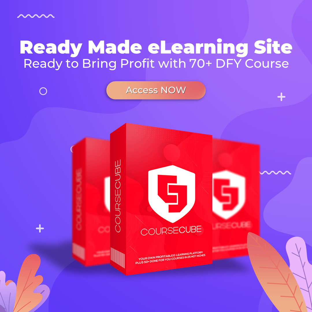 Ready Made eLearning SIte with 70+ DFY eCourse
