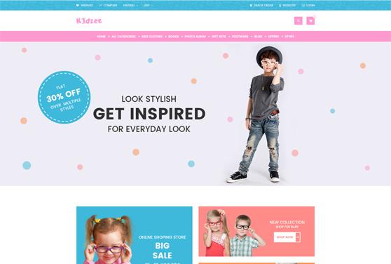 Kidzee Ecommerce PSD Web Template