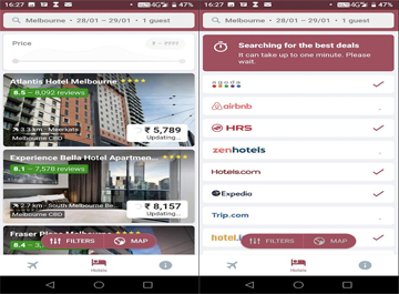 Automated Hotel & Flight Search Engine Android App