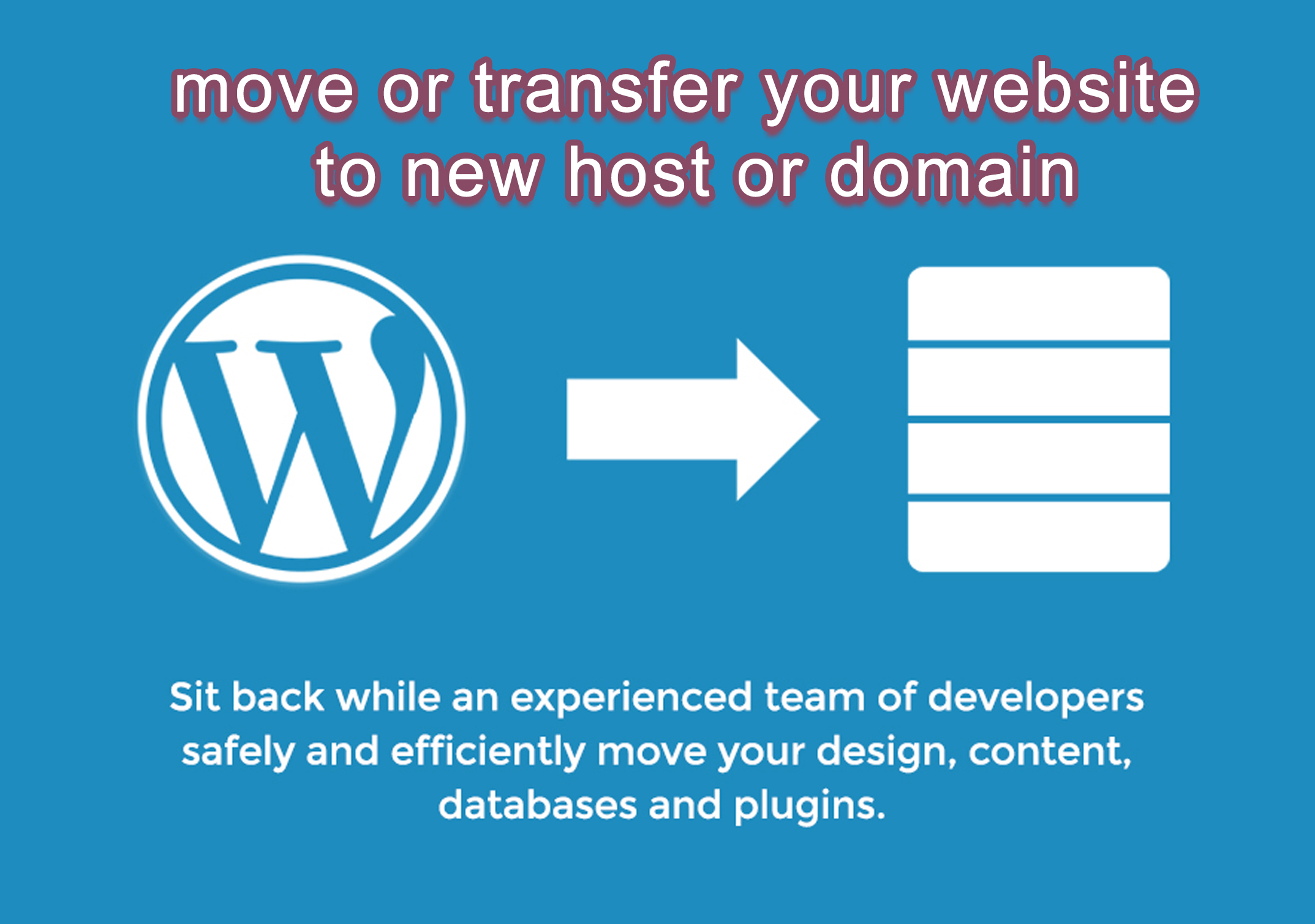 backup, migrate or transfer wordpress website