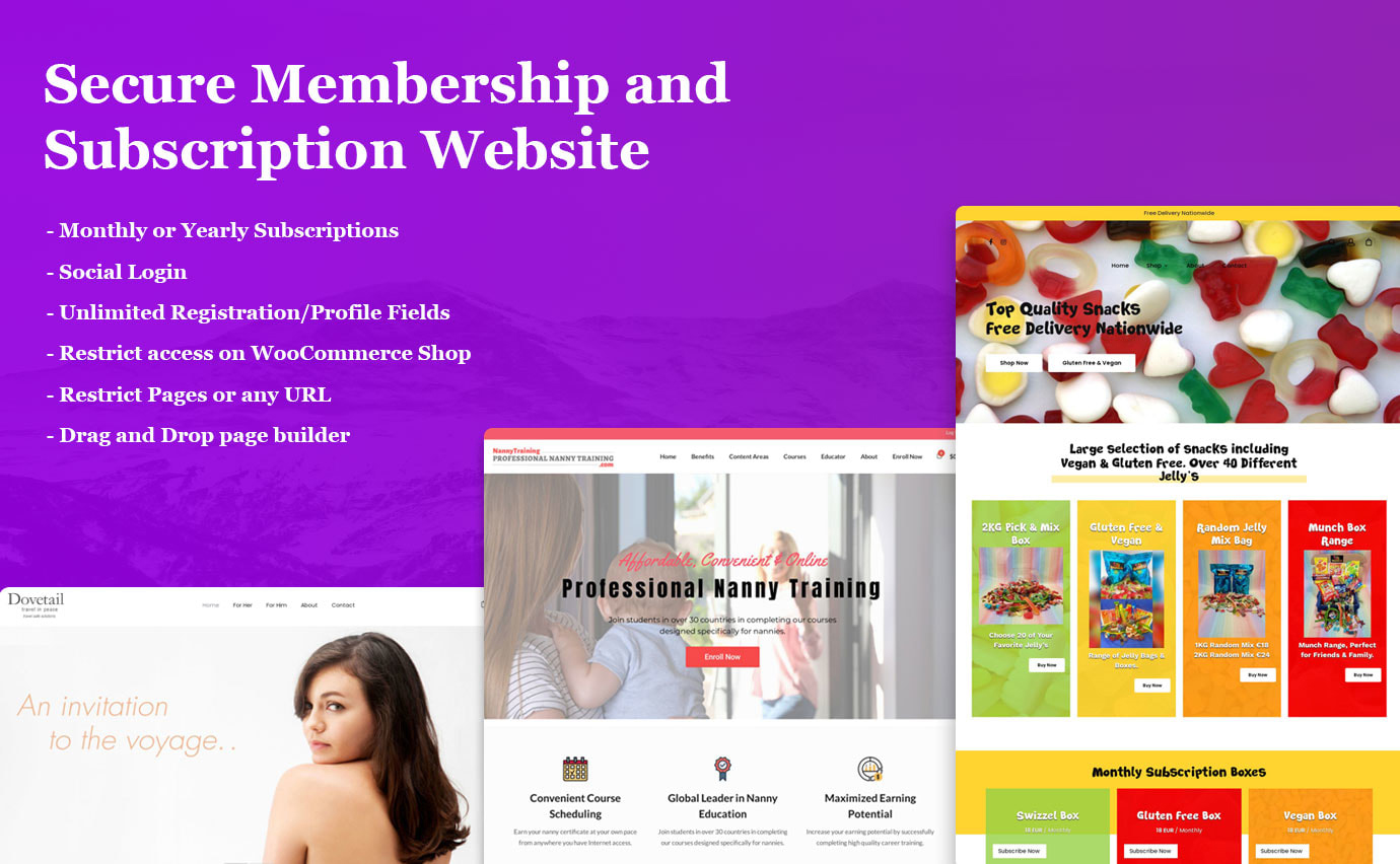 I will create a WordPress membership or elearning website