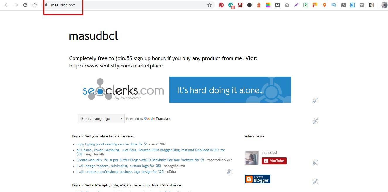 I shall create web 2.0 Google blogger blogspot blog