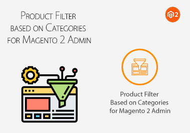 Product Filter based on Categories for Magento 2 Admin