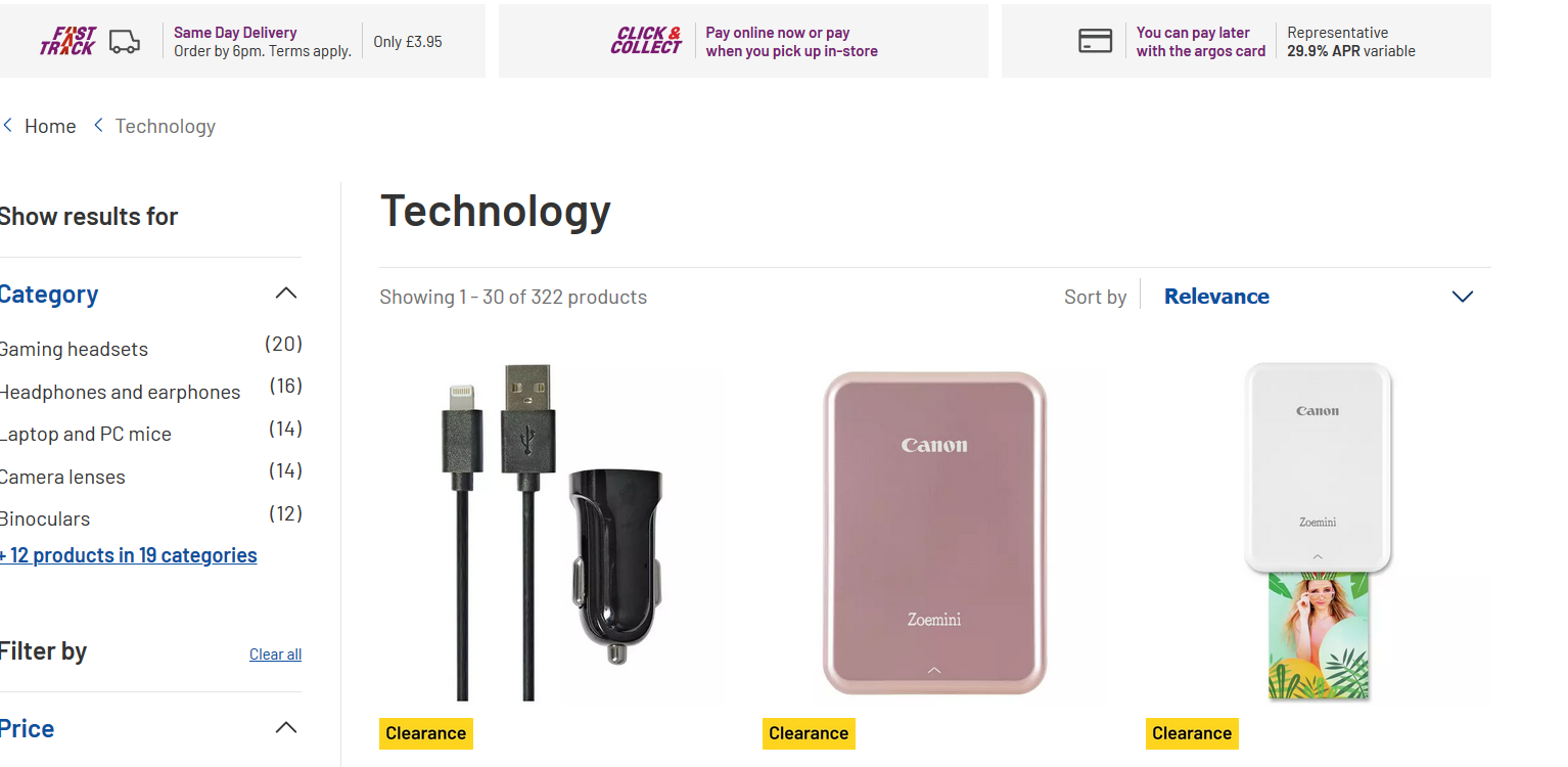 Argos. co. uk scraper Get Prices of All Products