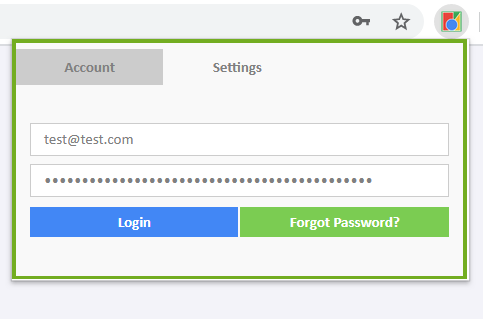 Chrome extension skeleton with login and disable features