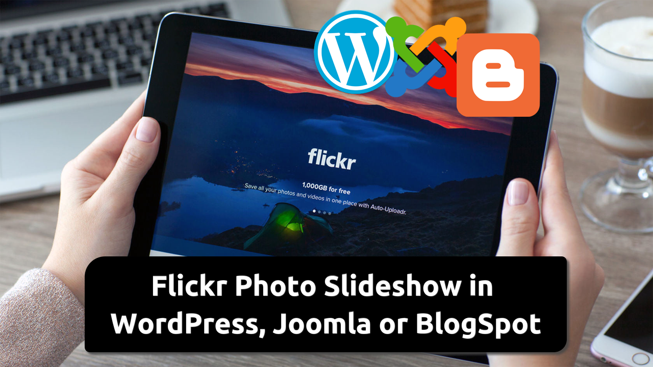Embed Flickr Photo Slideshow in Website