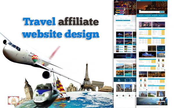 Travel affiliate website automated - EARN TODAY