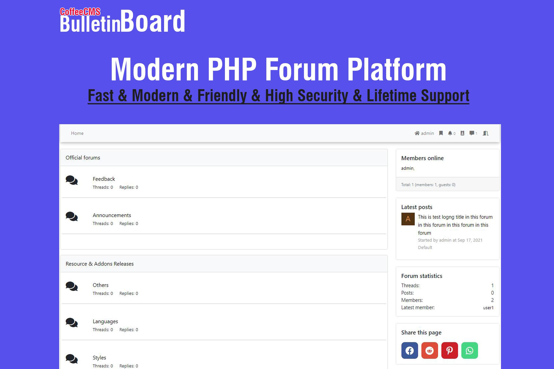 Bulletin Board - Modern PHP Forum Platform