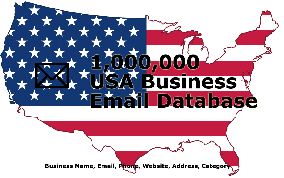 I will provide 1,000,000 USA Email Leads Business Database