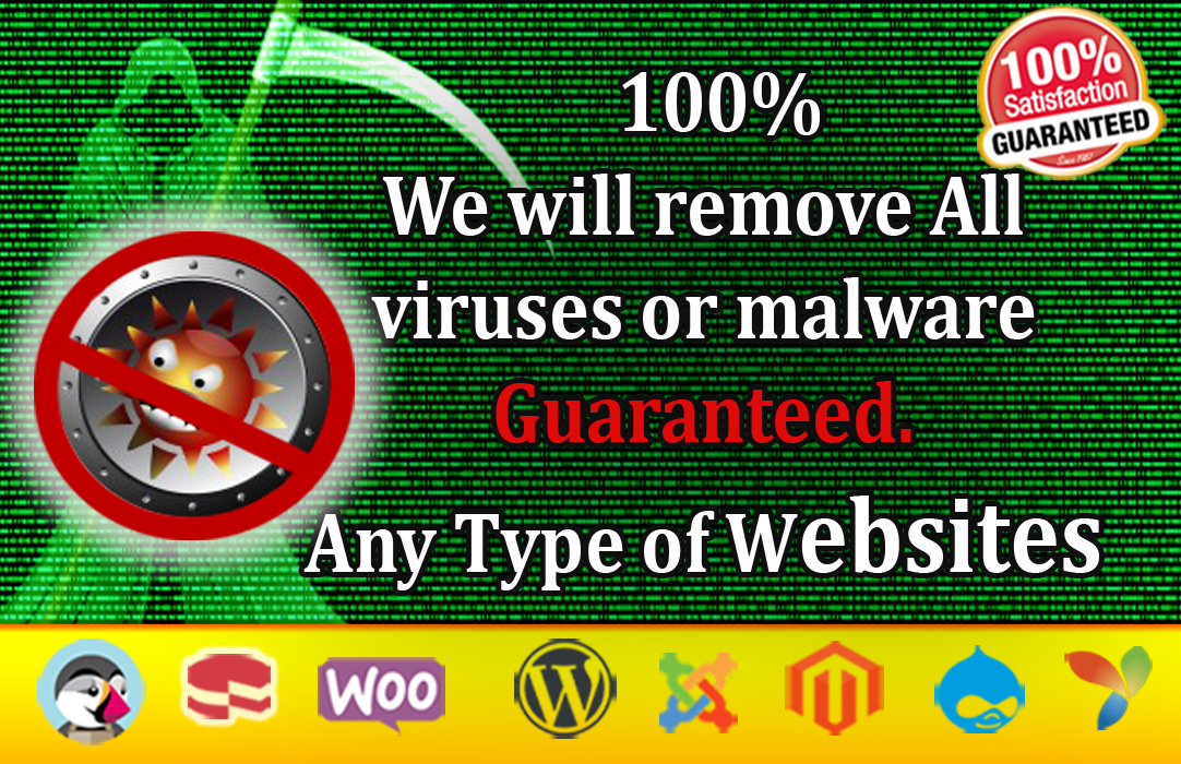 I will remove malware,  virus from any type of websites or wordpress
