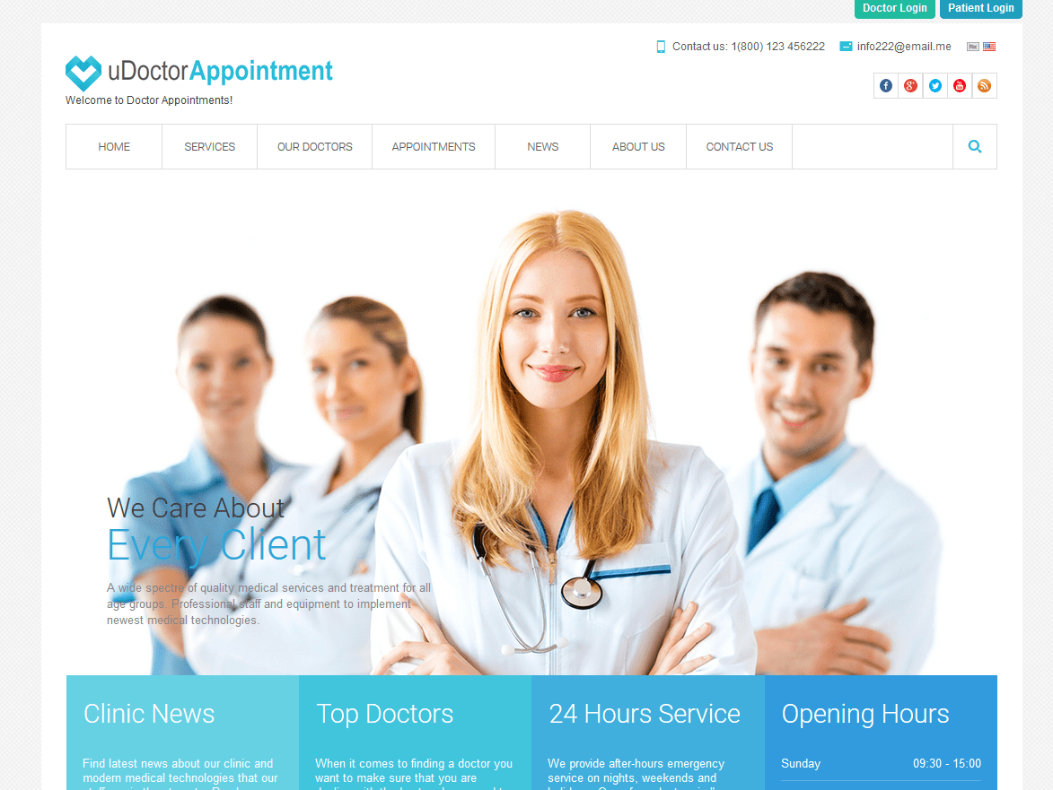 uDoctor Appointments PHP Script