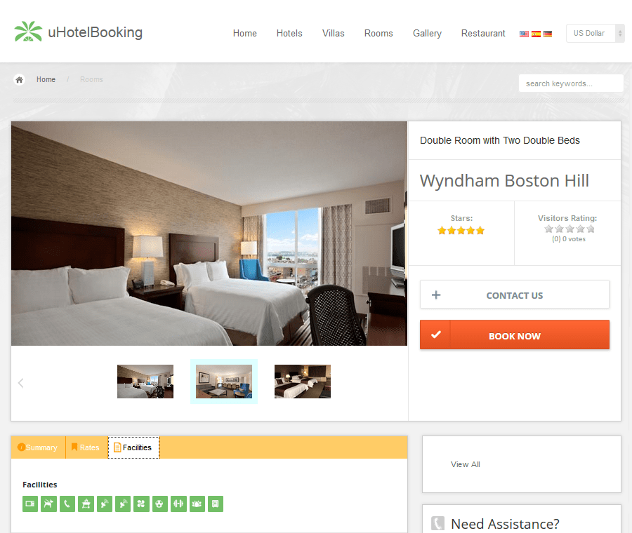 uHotelBooking - Hotel Booking and Reservation PHP Script