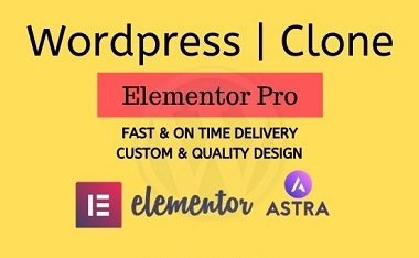 I can design or clone website using wordpress elementor pro