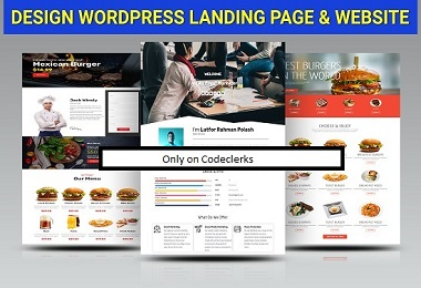 I Can design wordpress landing page & Sales Funnel