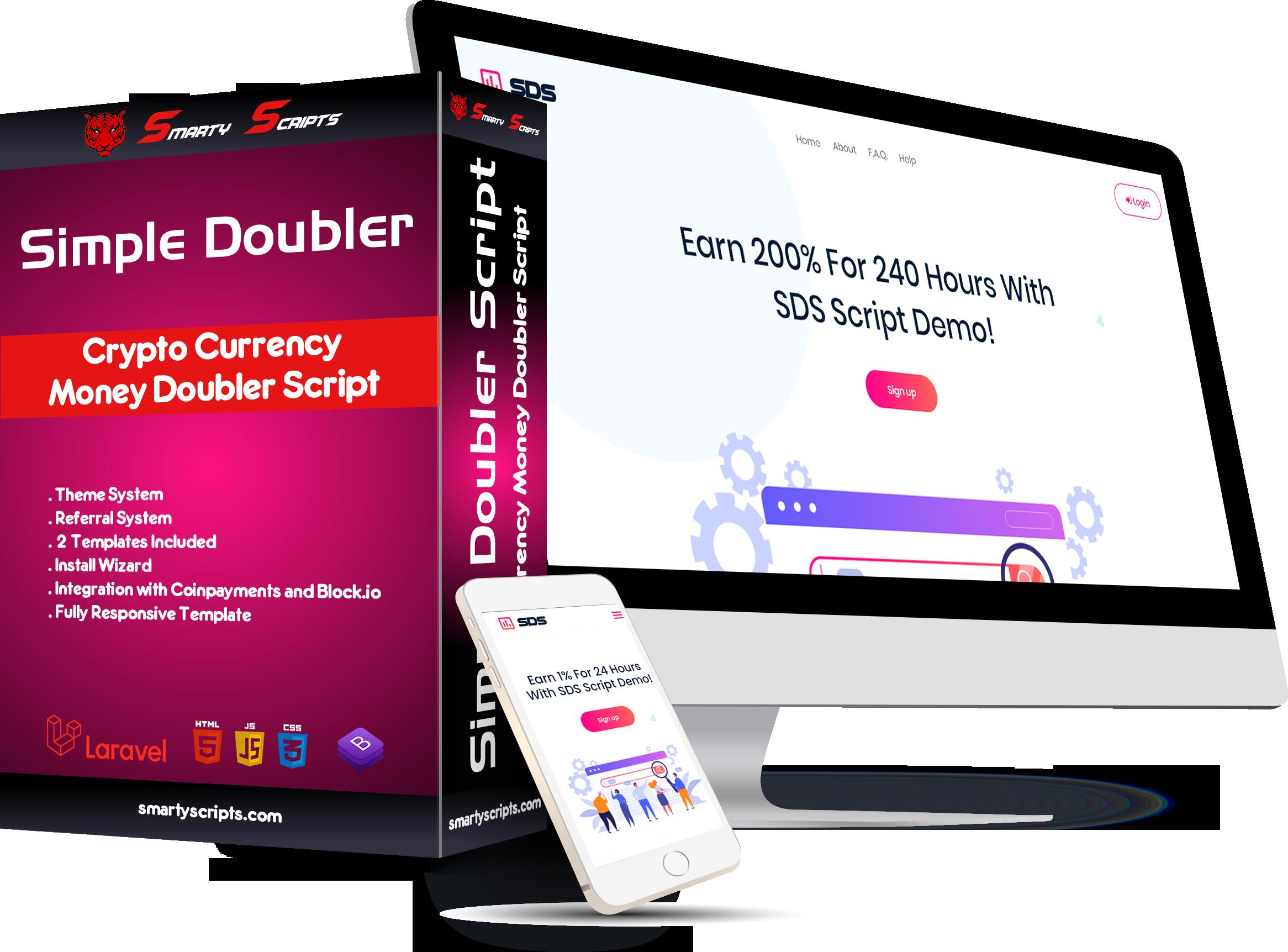 SDS - Simple Doubler Script - Crypto Doubler Script