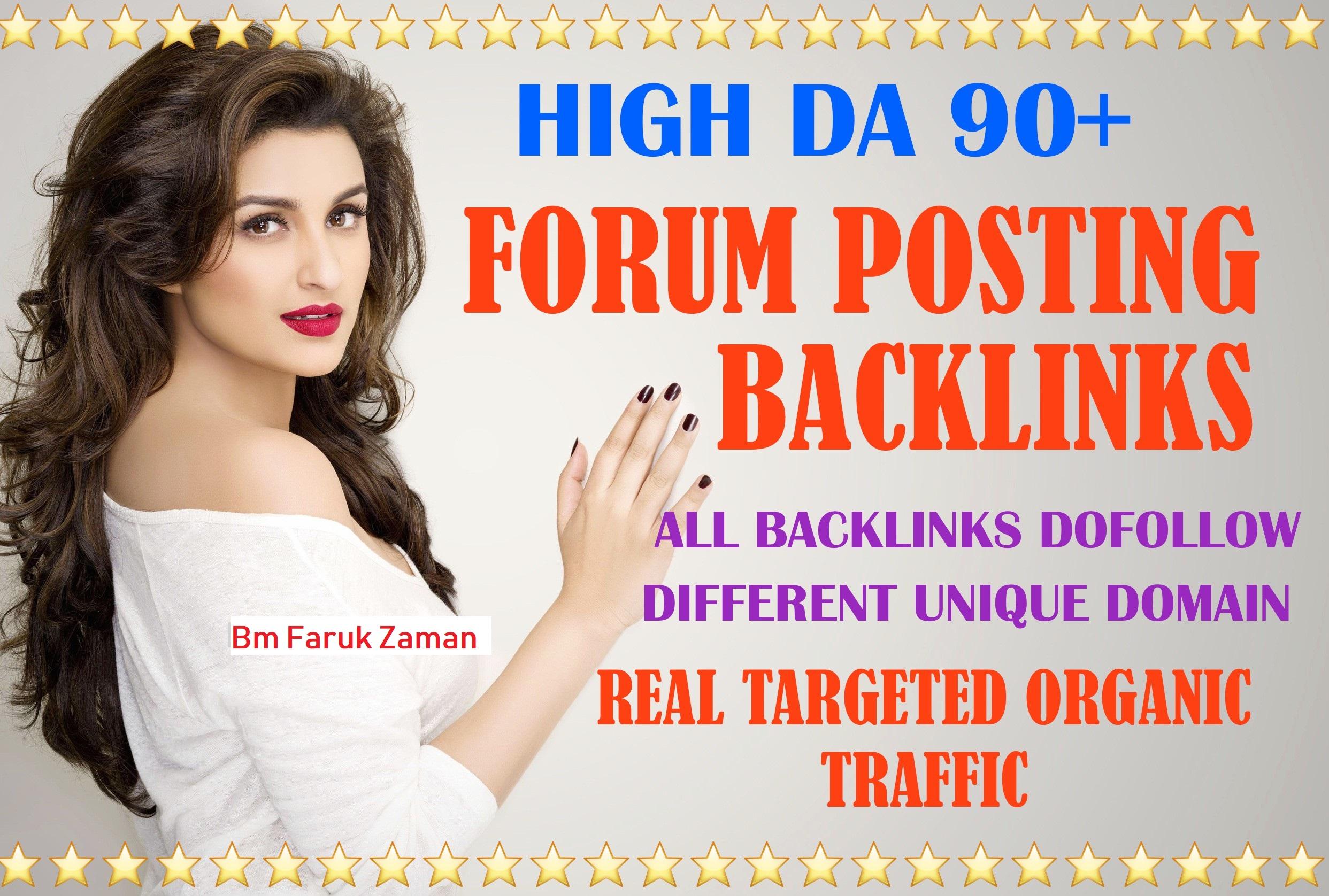 15 Niche related Forum Posting Backlinks. DA will be 50+