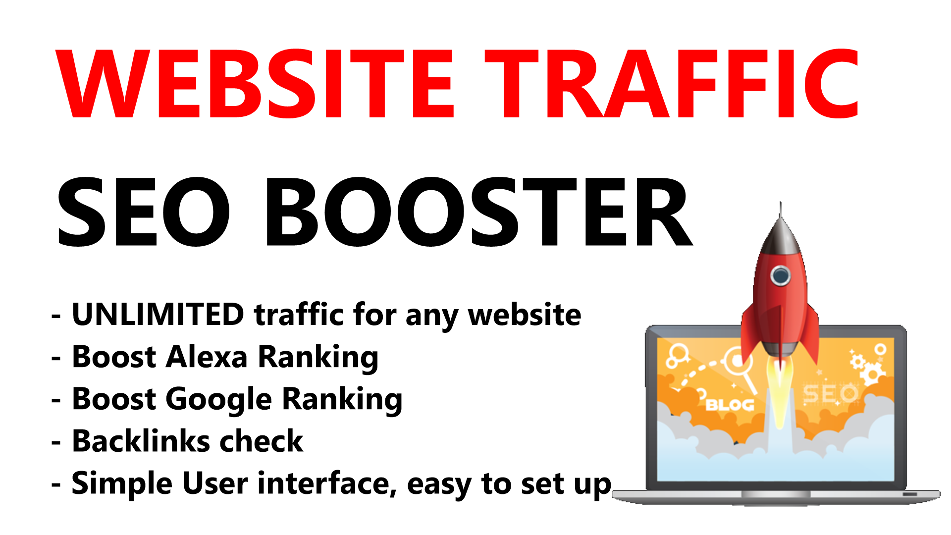 Website Traffic Booster software,  No proxies needed Generate Unlimited Traffic for any url