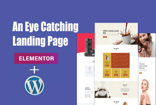 I can design WordPress or landing page or squeeze page