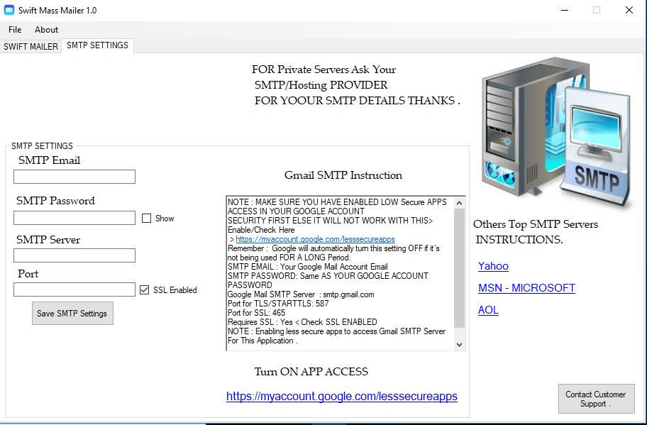Swift Mass Mailer By Swift Tech Including Full Source Code