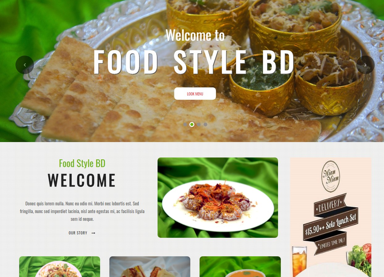Online Food PHP website and mobile app