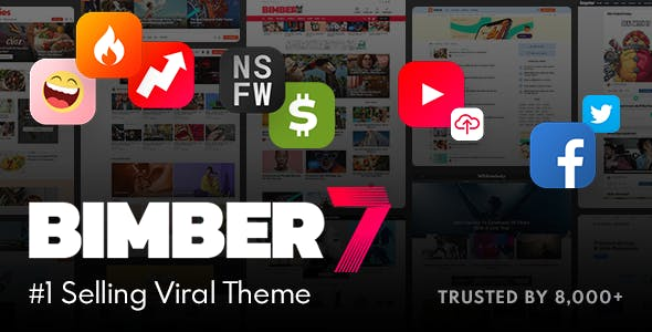 Install Premium Viral Theme Magazine theme Bimber on your wordpress