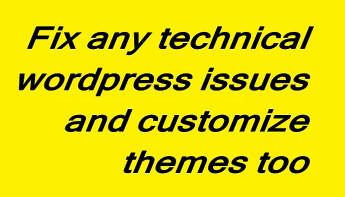 I Fix all Wordpress Website Issues Or Errors In 12h And Customize Themes Too