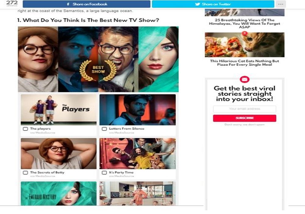 Best Viral Magazine WordPress Theme + quiz questions (poll)