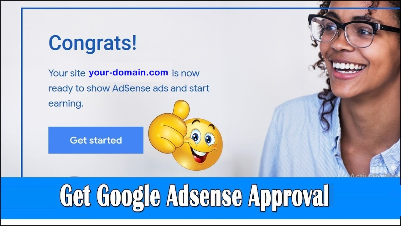 I get adsense website approval on your own domain