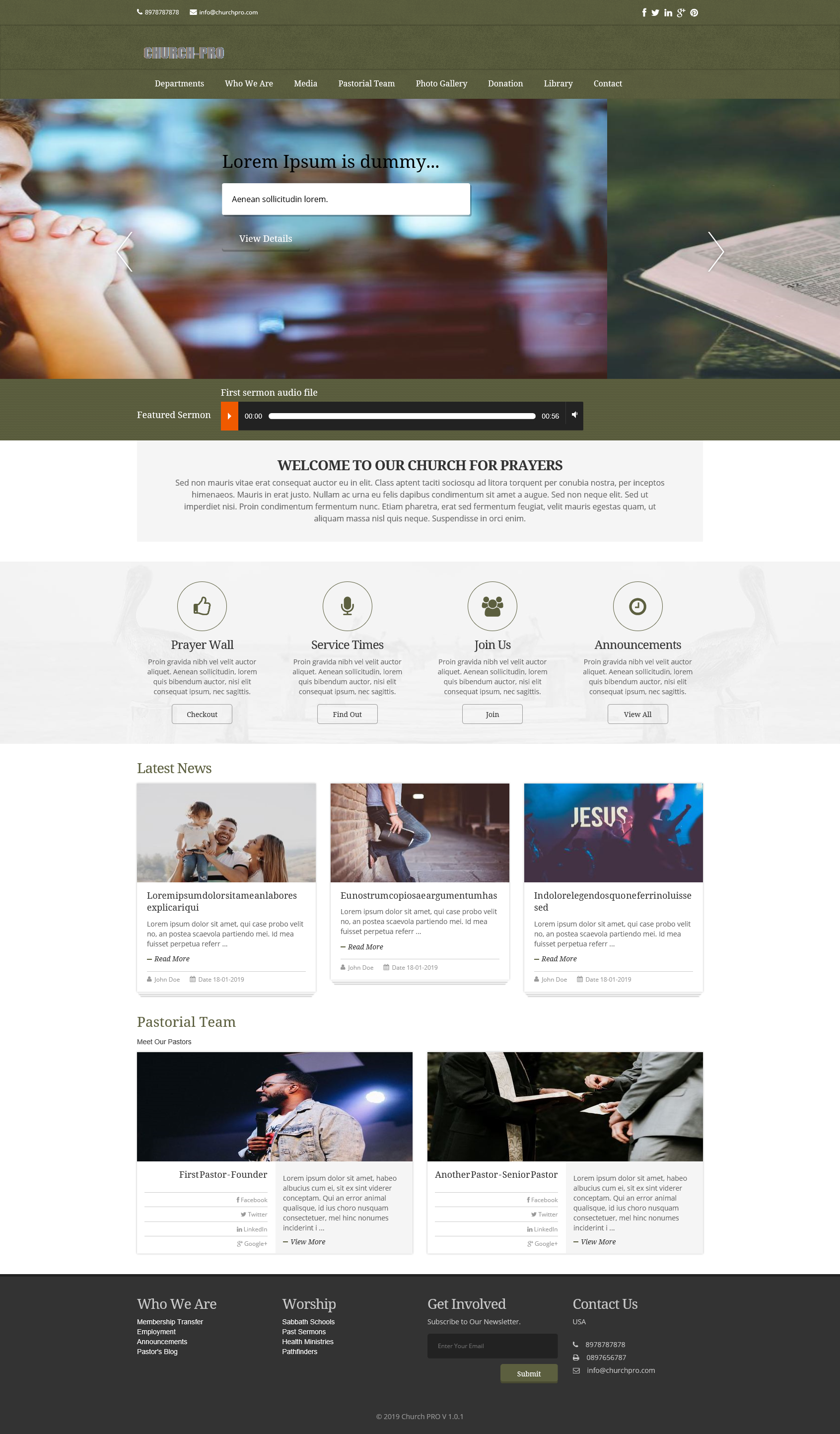 Church and Nonprofit Organization Template