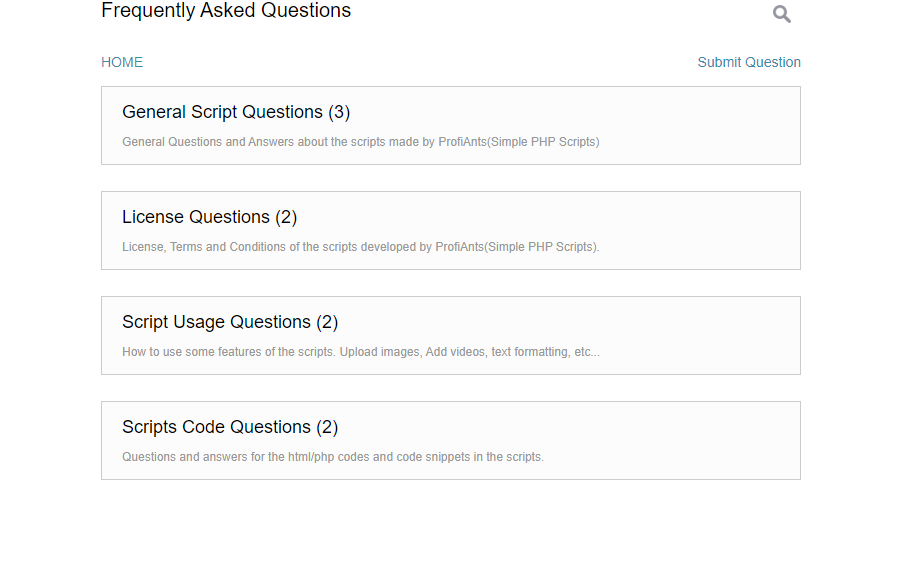FAQ Script PHP Simple Script PHP
