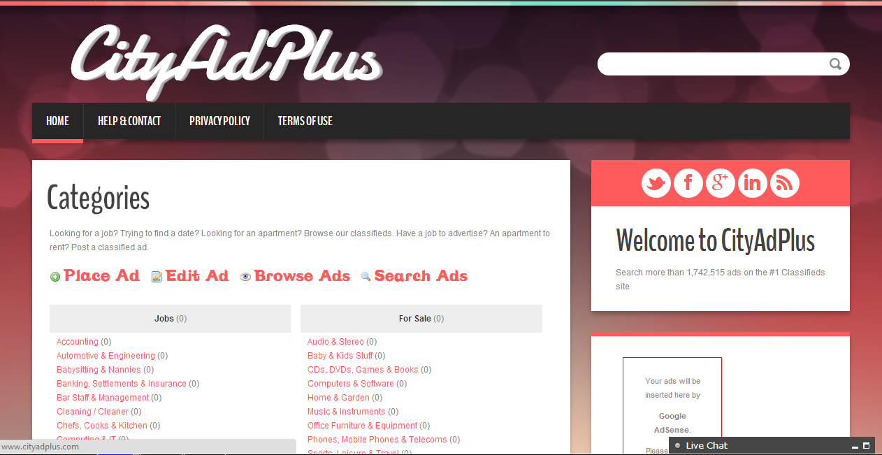 Create Ads Website For users to sell