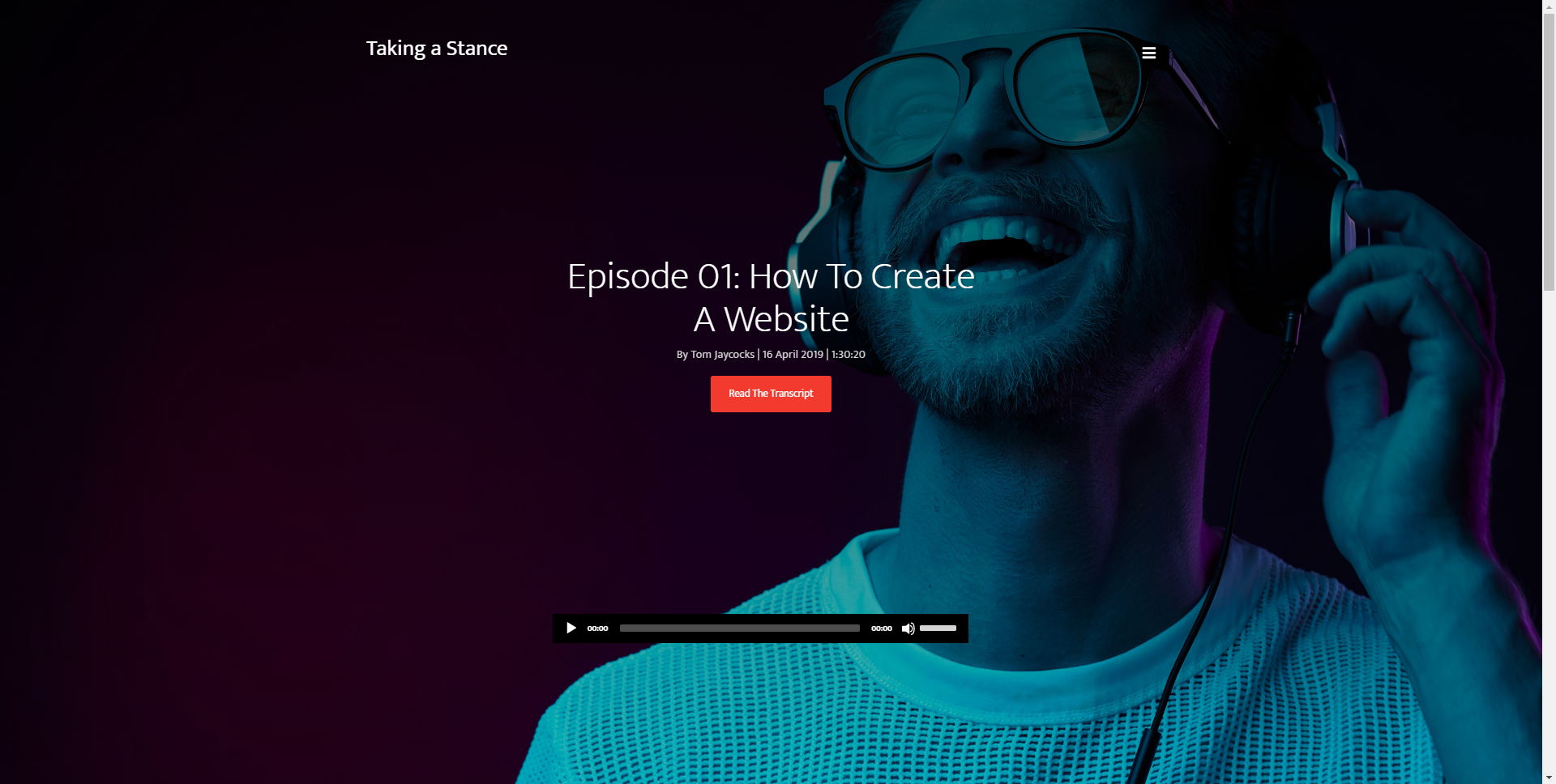 Simple Podcast Website Template Home & Internal Pages HTML & CSS
