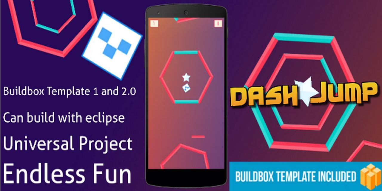 Dash Jump &ndash Buildbox Template Android App Source code