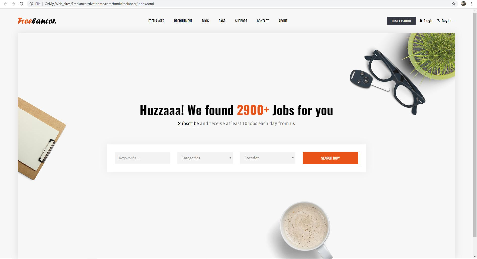Freelancer Marketplace HTML Template