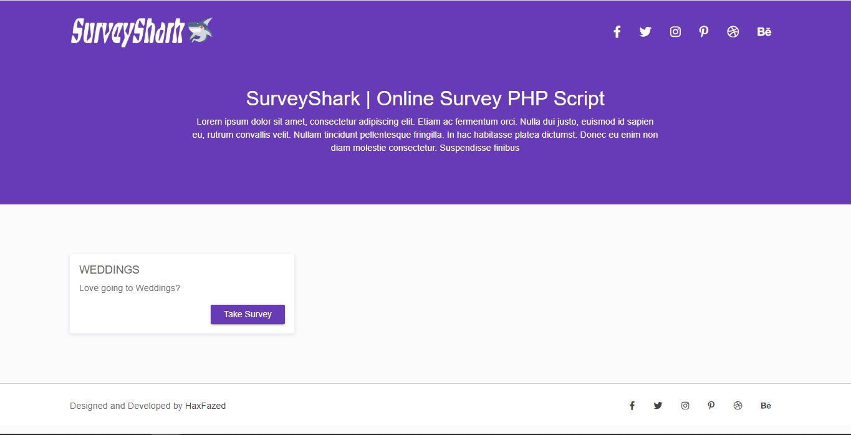 Survey Shark v1.0 PHP Script Master
