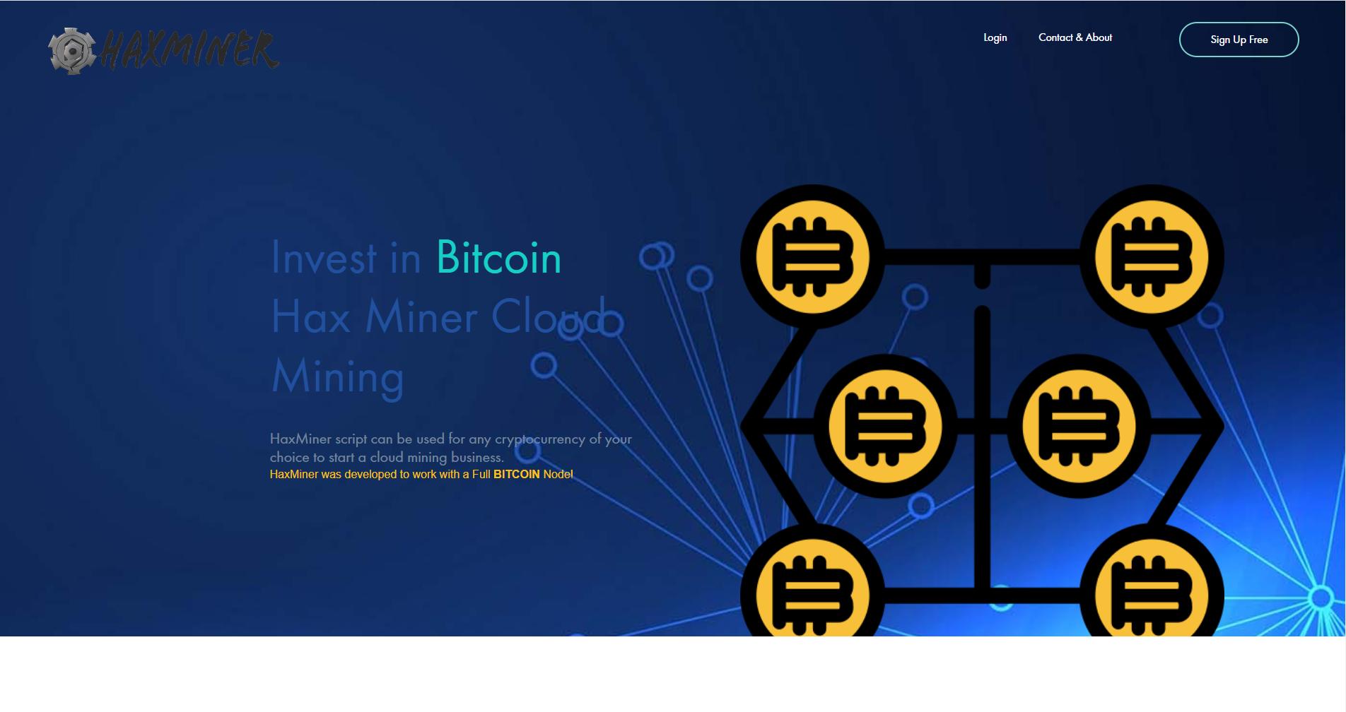 HaxMiner Cloud Mining PHP Script