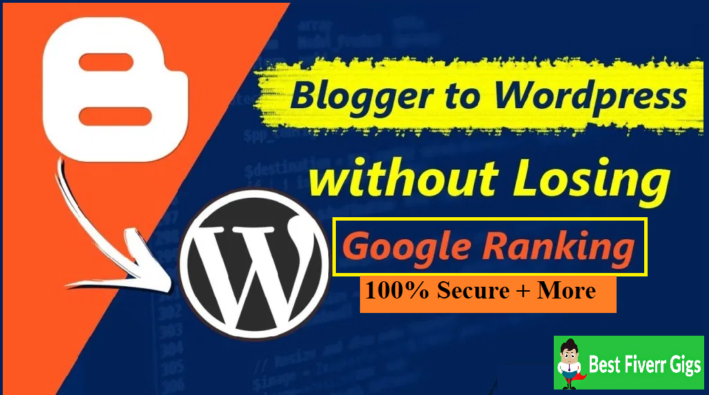 Lower Price Correctly migrate from blogger to wordpress no SEO loss