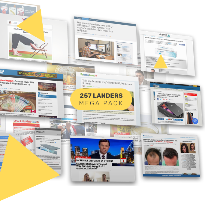 Instantly Grab 257 Hot, Ready-To-Go Mobile, Push & Native Pre-Lander Templates