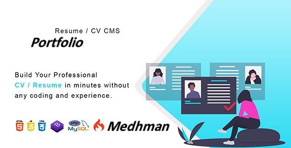 I Will Create a Portfolio - Resume / CV CMS site Professional