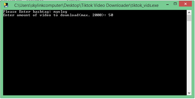 TikTok Video Downloader Based on HashTag Given