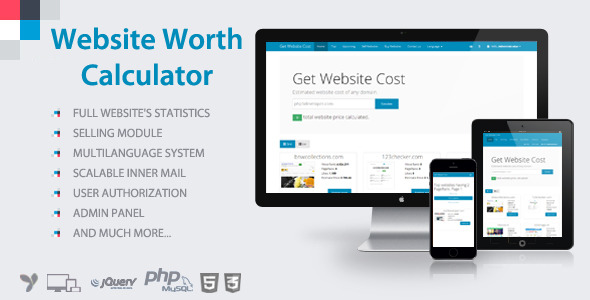 Website Worth Calculator Script That Will Help You To Make Money
