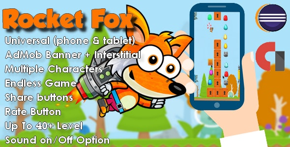 Rocket Fox Universal + Admob - For Android