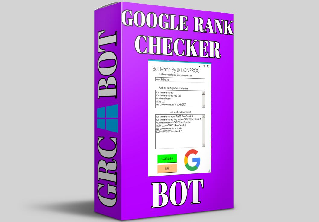 Google Bulk Url Rank Checker Bot