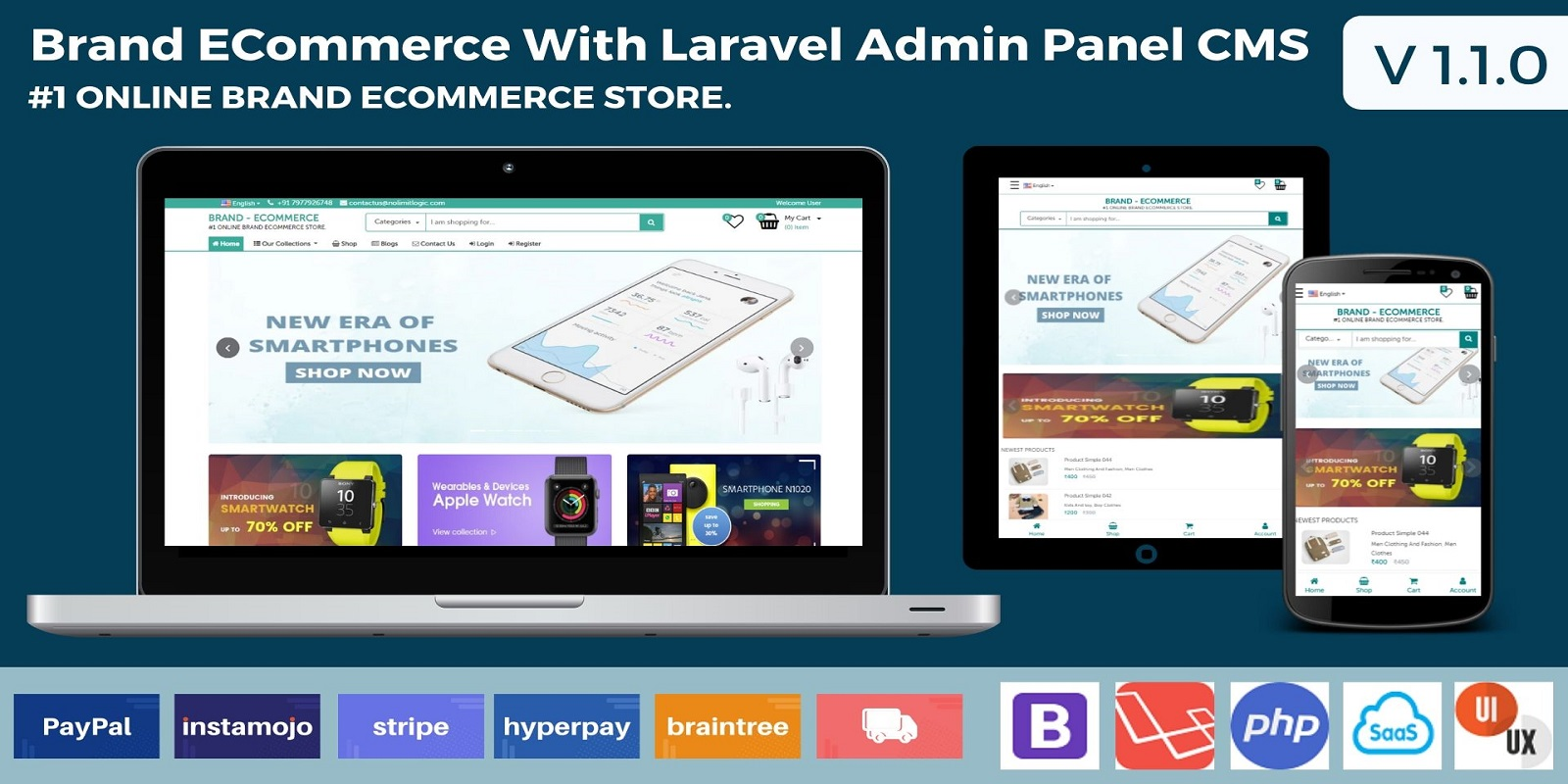 Brand Ecommerce With Laravel Admin Panel CMS