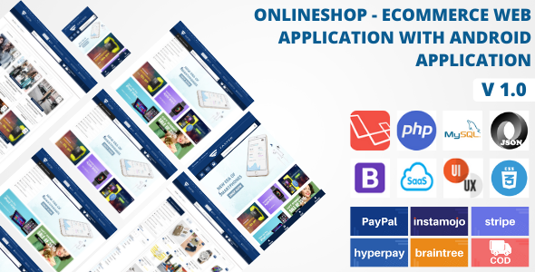 Online Shop - Ecommerce Web Application with Android Application