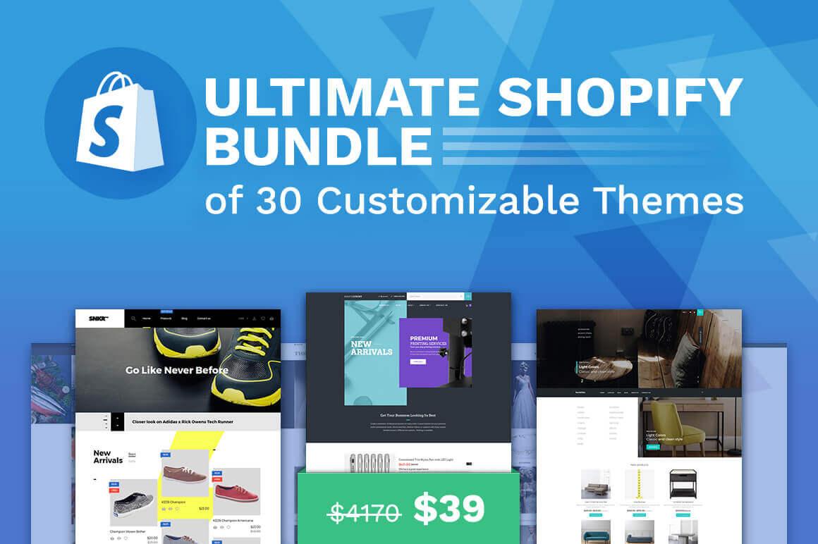 30x Premium Shopify Themes Bundle