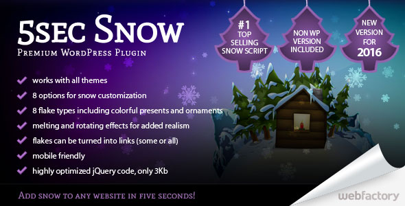 5sec Snow Wordpress and Non Wordpress Plugin