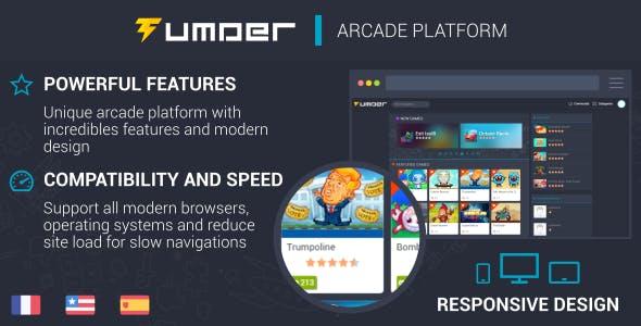 Tumder - Responsive Arcade Script