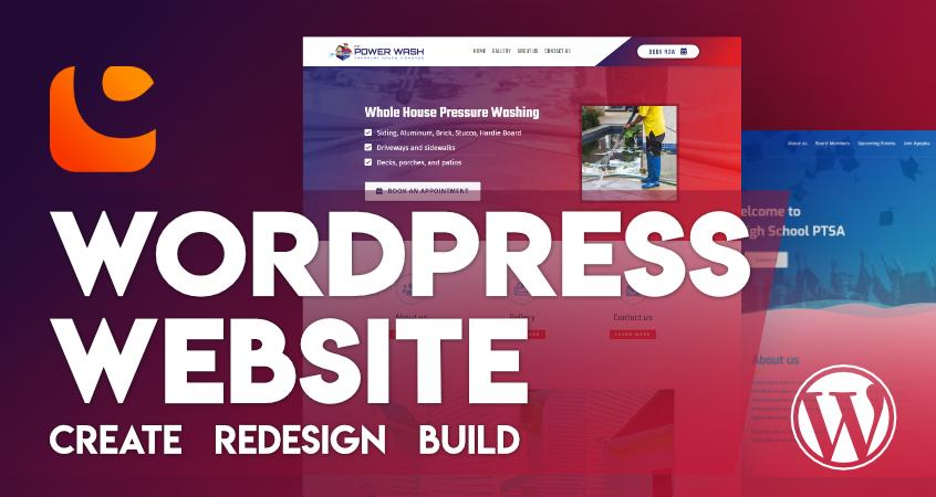 Create Re-Design Build WordPress Website